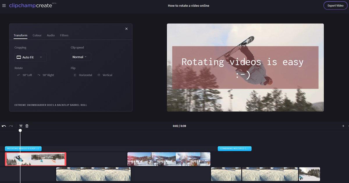editor de vídeos online