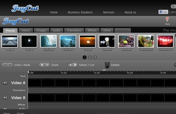 Editor online de vídeos